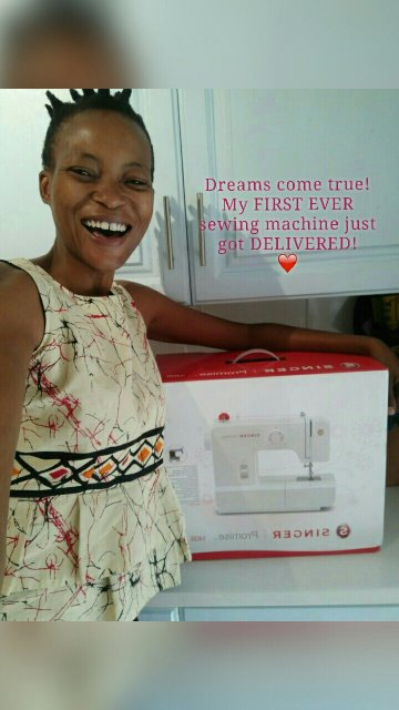 Dreams come true! My FIRST EVER sewing machine just got DELIVERED! ❤